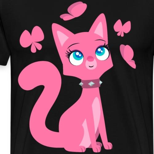 Kittenish Pink Kitty by Cheerful Madness!! - Men's Premium T-Shirt