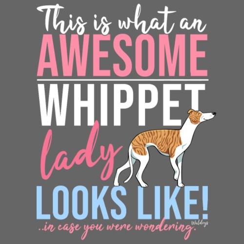 Awesome Whippet Lady - Miesten premium t-paita