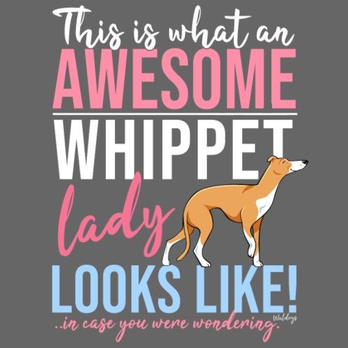 Awesome Whippet Lady V - Miesten premium t-paita