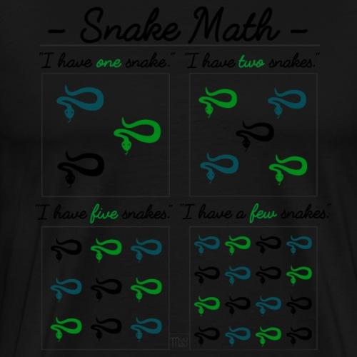 Snake Math III - Miesten premium t-paita
