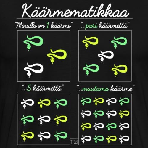 Käärmematikkaa II - Miesten premium t-paita