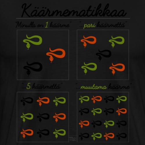 Käärmematikkaa III - Miesten premium t-paita