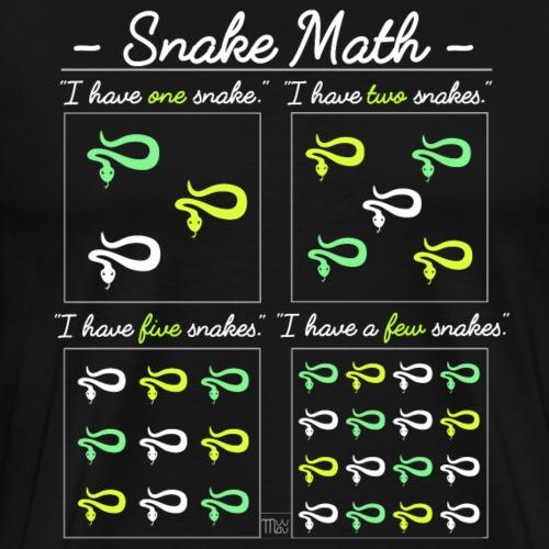 Snake Math - Miesten premium t-paita