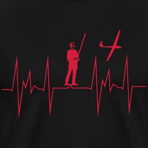 herzschlag modellfliegen - Männer Premium T-Shirt