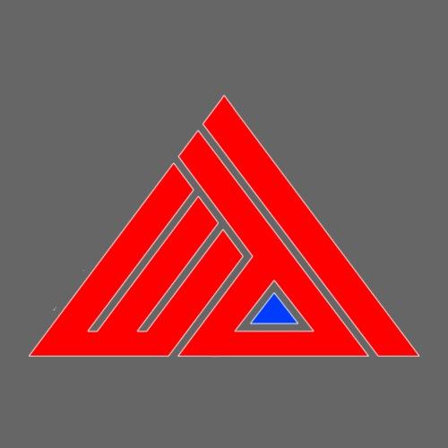 Edi Triangle Logo, Red Blue Pyramid - Mannen Premium T-shirt