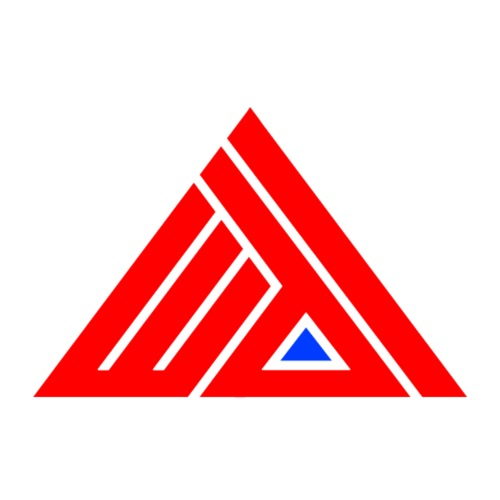 Edi Triangle Logo, Red Blue Pyramid - Mannen Premium T-shirt