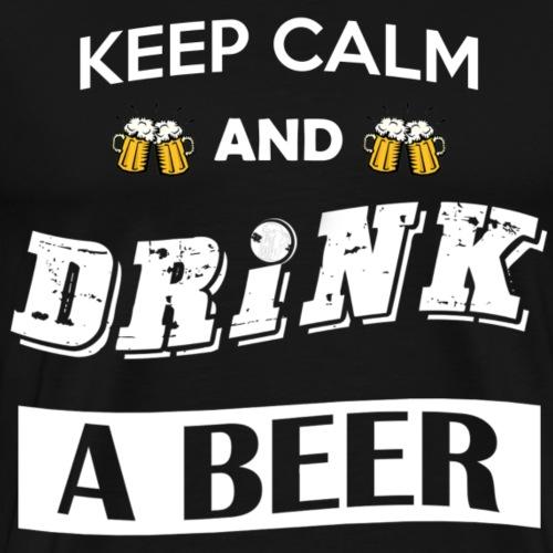 Keep calm and drink a beer - Maglietta Premium da uomo