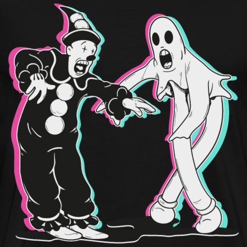 fantasma y payaso bailando - Camiseta premium hombre