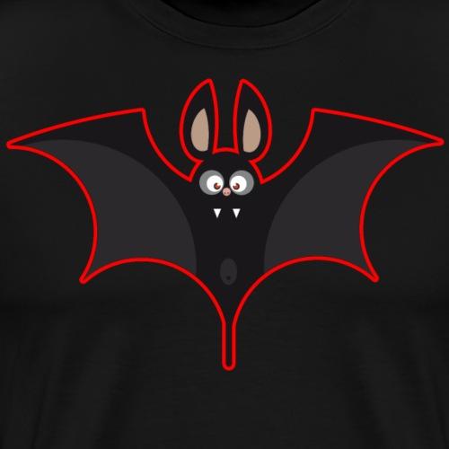 chauve souris noir rouge - T-shirt Premium Homme