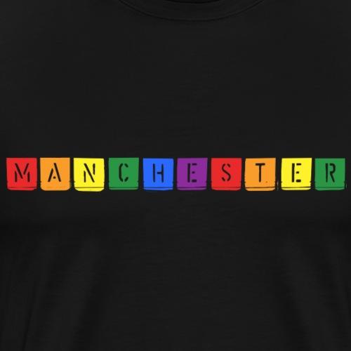 Rainbow Manchester - Men's Premium T-Shirt