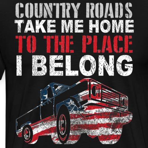 Diseño para camioneros y conductores de camionetas - Camiseta premium hombre