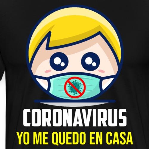 Coronavirus camiseta yo me quedo en casa covid-19 - Camiseta premium hombre