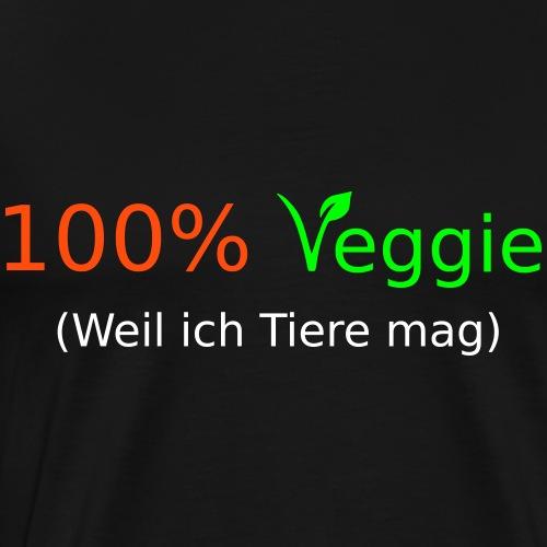 100% Veggie - fun4m3 - Männer Premium T-Shirt