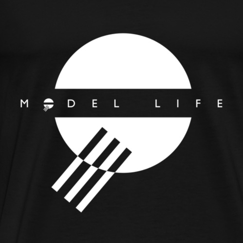 Model Life White Logo - Men's Premium T-Shirt