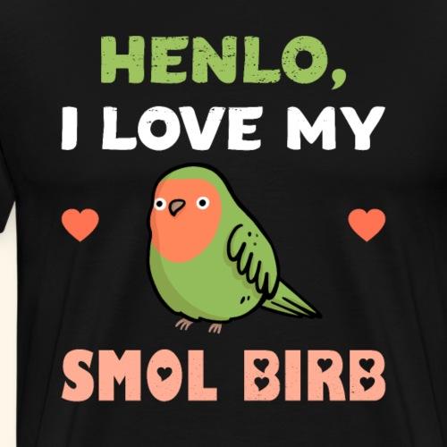 Kleiner Vogel Tierfreund Spruch Geschenk - Männer Premium T-Shirt