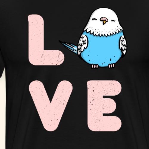 Wellensittich Vogel Liebe Geschenk - Männer Premium T-Shirt