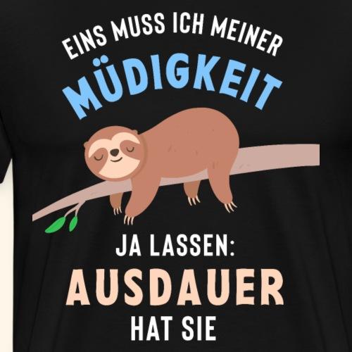 Faultier Müde Lustiger Spruch Geschenk - Männer Premium T-Shirt