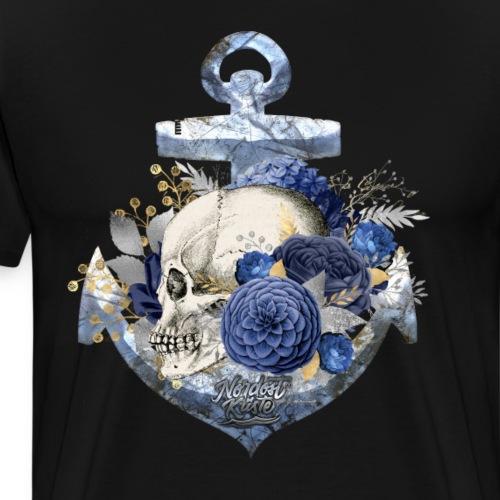 Totenkopf Blumenanker