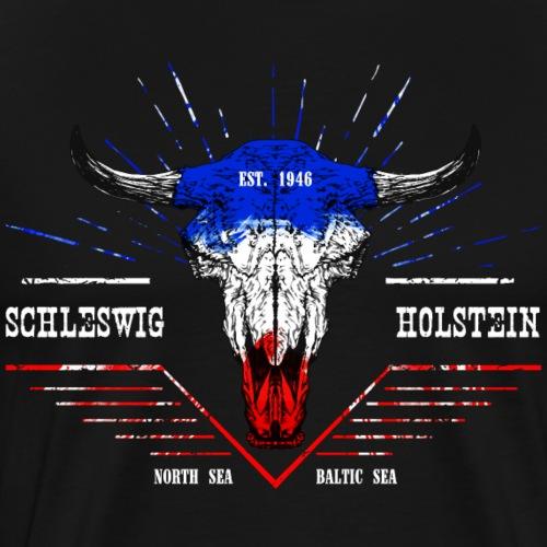 Bull Skull Schleswig-Holstein - Männer Premium T-Shirt