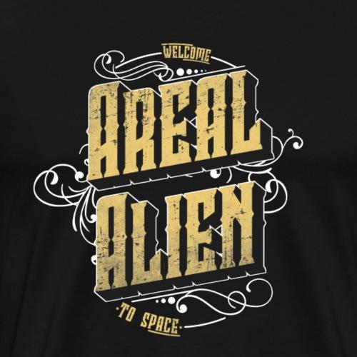 Areal Alien Vintage logo - Premium T-skjorte for menn