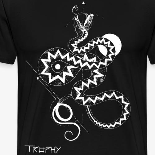Kreuzotter invert - Männer Premium T-Shirt