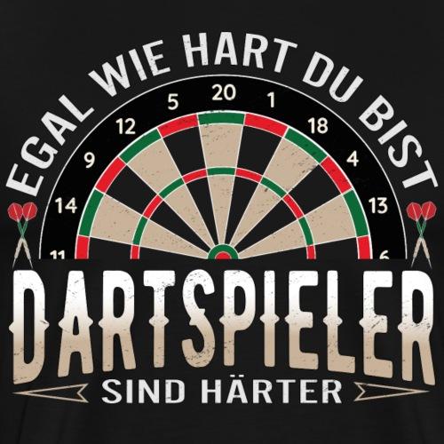 Dartspieler sin Härter - Männer Premium T-Shirt