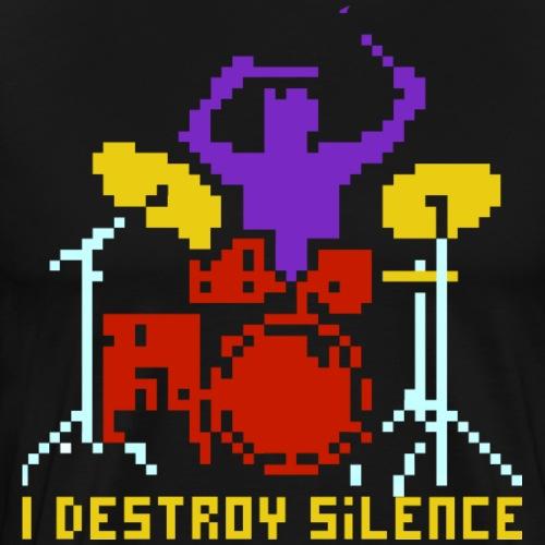 Drummer - I destroy Silence - Männer Premium T-Shirt