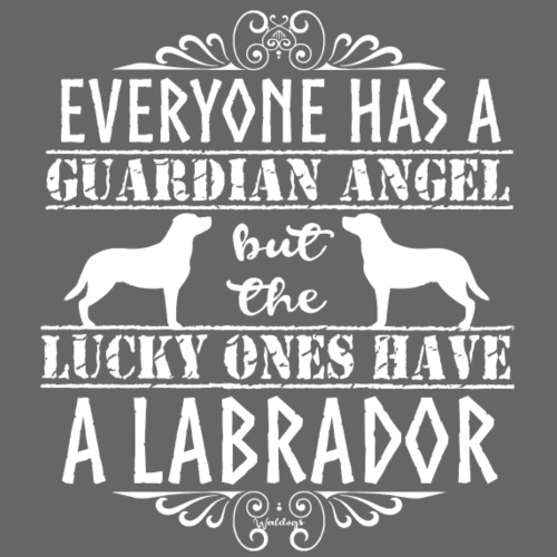 Labrador Retriever Angel4 - Miesten premium t-paita