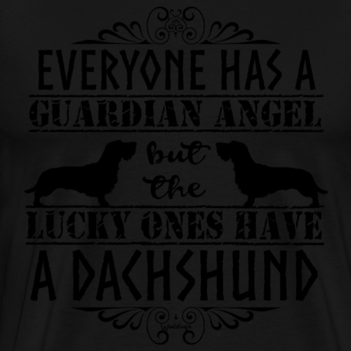 Dachshund WH Angels 3 - Men's Premium T-Shirt