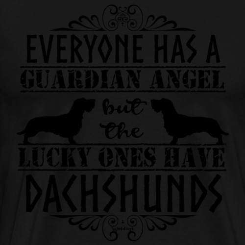 Dachshund WH Angels - Men's Premium T-Shirt