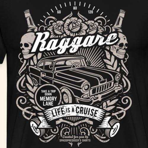 Raggare Tattoo Style Life is a Cruise Tacho Skull - Männer Premium T-Shirt