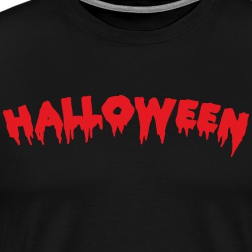 Halloween Schriftzug - Männer Premium T-Shirt