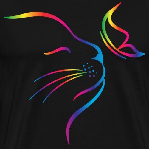 rainbow butterfly cat - Männer Premium T-Shirt