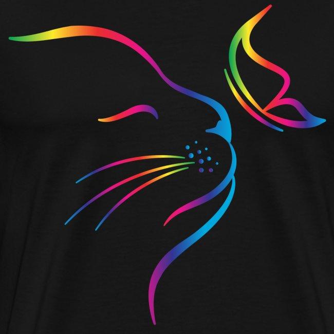 Vorschau: rainbow butterfly cat - Männer Premium T-Shirt