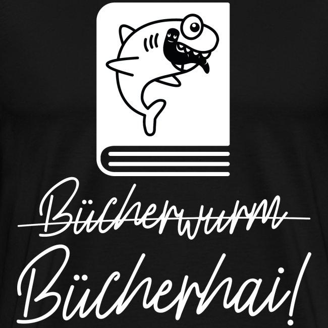 Bücherhai Bücherwurm T-Shirt Geschenk Leseratten