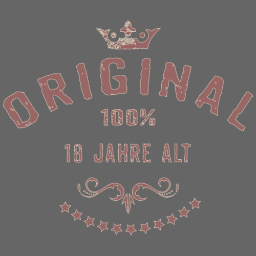 Original 100 Prozent 18 Jahre alt - RAHMENLOS red - Männer Premium T-Shirt