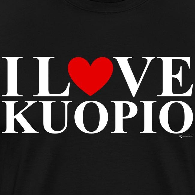 I LOVE KUOPIO (koko teksti, valkoinen)