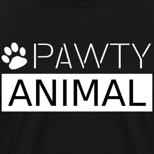 PAWTY ANIMAL weiß - Männer Premium T-Shirt