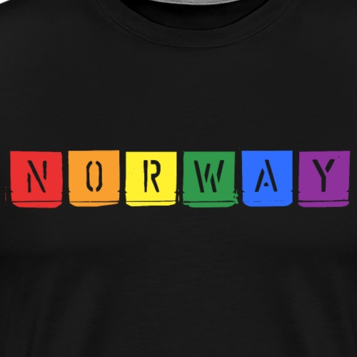 Rainbow Norway - Men's Premium T-Shirt