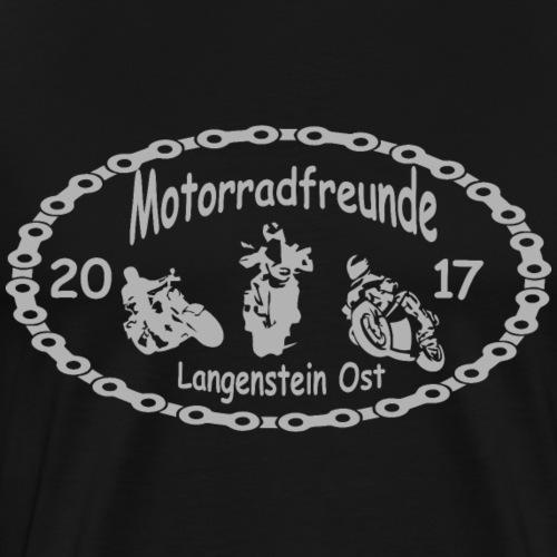Motorradfreunde silber - Männer Premium T-Shirt