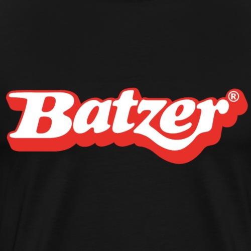 batzer logo rood wit - Mannen Premium T-shirt