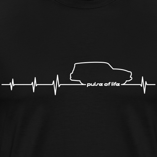 Wartburg 311 312 Camping EKG Pulse of Life - Männer Premium T-Shirt