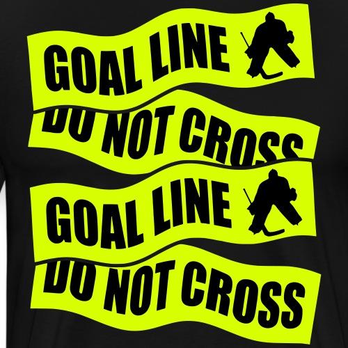 goal_line_do_not_cross_ve - Men's Premium T-Shirt