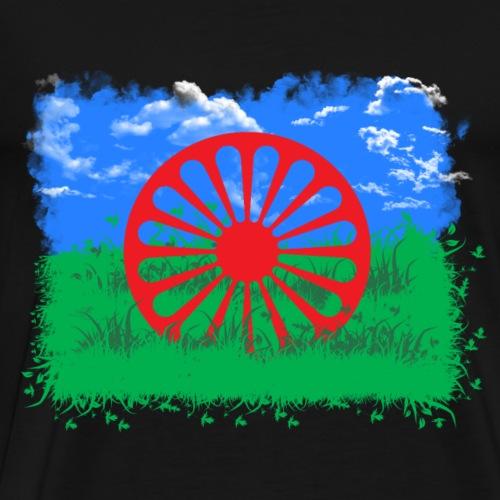 Roma und Sinti Flagge Freiheit und Natur - Männer Premium T-Shirt
