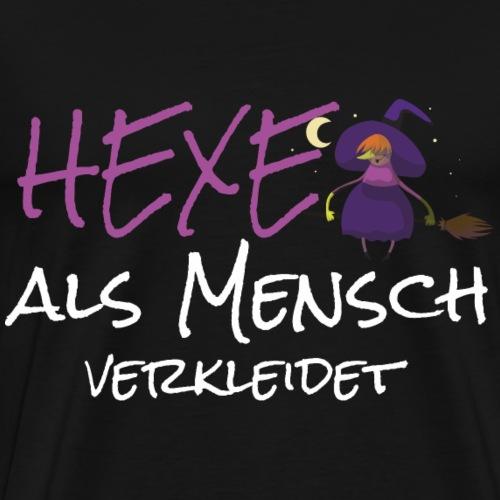 Hexe Verkleidung Fasching Karneval Halloween - Männer Premium T-Shirt