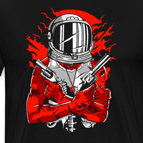 Astronaut Mit Waffen Geschenkideen - Männer Premium T-Shirt