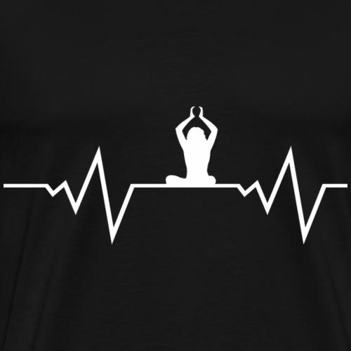 Frau Yoga Uebung Bikram Om Shirt Geschenk - Männer Premium T-Shirt