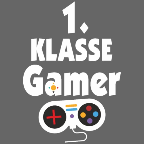 1. Klasse Gamer Schüler Einschulung - Männer Premium T-Shirt