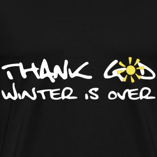 Thank God Winter Shirt Geschenk - Männer Premium T-Shirt