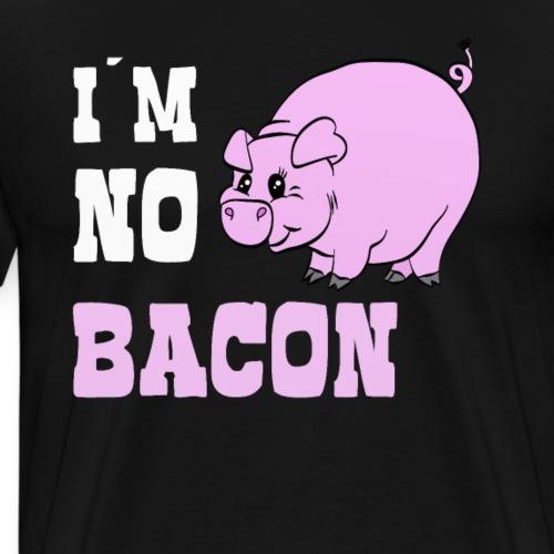 I´m no Bacon Pig Schwein - Männer Premium T-Shirt